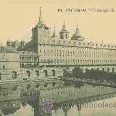 Postales: EL ESCORIAL - ESTANQUE DE LA HUERTA. Lote 11677954