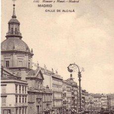Postales: Nº 17895 POSTAL MADRID SIN DIVIDIR HAUSER Y MENET CALLE DE ALCALA. Lote 11866075