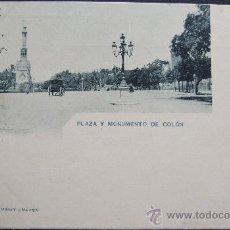 Postales: MADRID – PLAZA Y MONUMENTO DE COLÓN – 277 HAUSER Y MENET. Lote 25212595