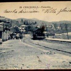 Postales: ANTIGUA POSTAL DE CERCEDILLA - ESTACION - TREN - MADRID - CIRCULADA - ED. BAZAR CERCEDILLA.. Lote 20874401