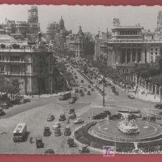 Postales: CIBELES Y LA CALLE DE ALCALÁ - MADRID - 1956. Lote 26321839