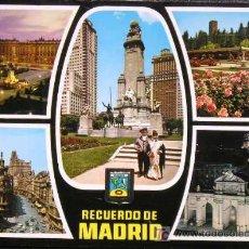 Postales - MADRID. PLAZA DE ORIENTE. PARQUE DEL OESTE. ROSALEDA. PLAZA DE ESPAÑA. - 12821485