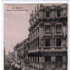 Postales: TARJETA POSTAL DE MADRID Nº 229. CARRERA DE SAN JERONIMO. T.G. MADRID. Lote 13081185