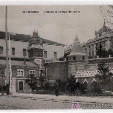 Postales: TARJETA POSTAL DE MADRID Nº 207. ENTRADA AL CAMPO DEL MORO. T.G. MADRID. Lote 13081409