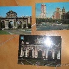 Postales: 3 POSTALES DE MADRID, CIRCULADAS. Lote 13411427