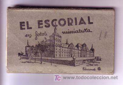ALBUM EL ESCORIAL EN MINIATURA 9X5,5 CM DIEZ POSTALES (Postales - España - Madrid Moderna (desde 1940))