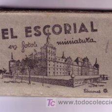 Postales: ALBUM EL ESCORIAL EN MINIATURA 9X5,5 CM DIEZ POSTALES. Lote 27279641