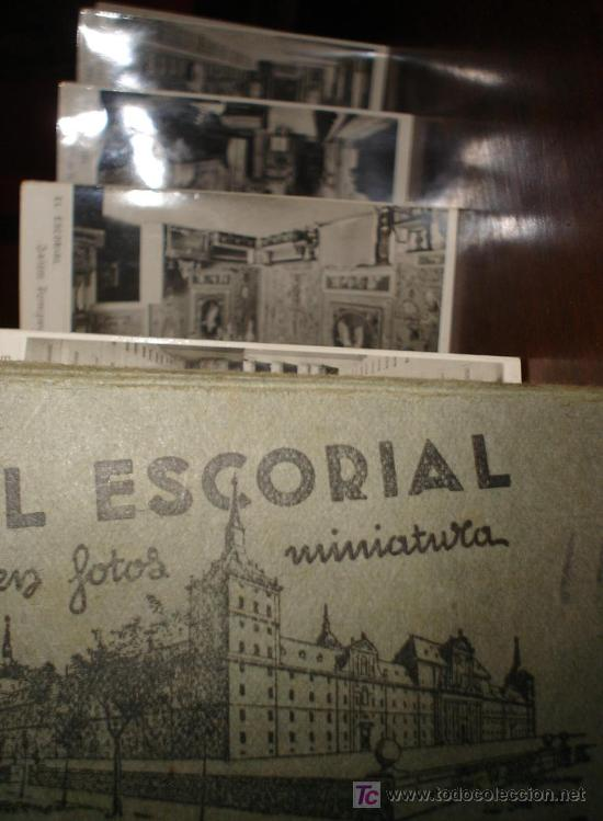 Postales: ALBUM EL ESCORIAL EN MINIATURA 9X5,5 CM DIEZ POSTALES - Foto 2 - 27279641