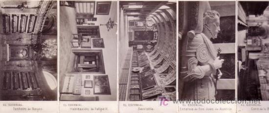 Postales: ALBUM EL ESCORIAL EN MINIATURA 9X5,5 CM DIEZ POSTALES - Foto 5 - 27279641
