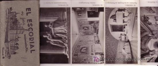 Postales: ALBUM EL ESCORIAL EN MINIATURA 9X5,5 CM DIEZ POSTALES - Foto 3 - 27279641