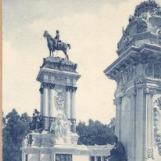 Postales: POST 215 - POSTAL NO CIRCULADA - MADRID - PARQUE DEL RETIRO - MONUMENTO A ALFONSO XII. Lote 13648107