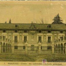 Postales: PS0059 ARANJUEZ (MADRID) 'CASITA DEL LABRADOR. FACHADA PRINCIPAL'. CIRCULADA EN 1949. Lote 13651783