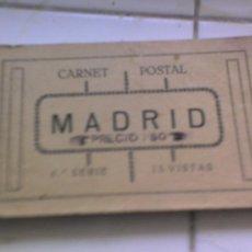 Postales: MADRID POSTAL ANTIGUA . LIBRO DE POSTALES -( 15 ) DE MADRID CALLES CON GENTE ANTIGUO. Lote 26361503