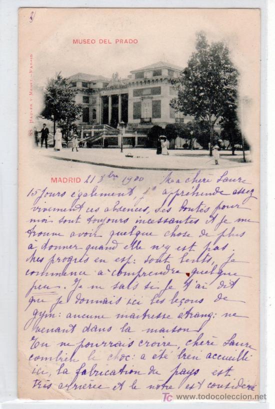 TARJETA POSTAL DE MADRID. MUSEO DEL PRADO. 88 HAUSER Y MENET.VER FOTO REVERSO (Postales - España - Comunidad de Madrid Antigua (hasta 1939))