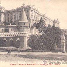 Postales: MADRID- PALACIO REAL DESDE EL PASEO DE SAN VICENTE. Lote 13986690