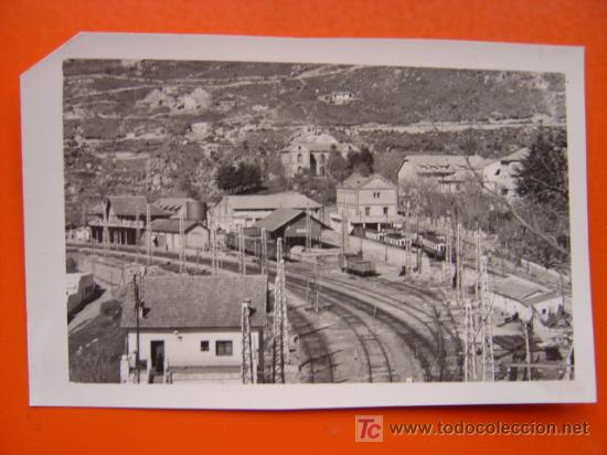 CERCEDILLA (MADRID) - FOTOGRAFICA - ESTACION - ESQUINA SUPERIOR IZQUIERDA UN POCO ROTA (Postales - España - Comunidad de Madrid Antigua (hasta 1939))