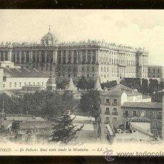 Postales: TARJETA POSTAL DE MADRID - EL PALACIO REAL VISTO DESDE LA MONTAÑA- SIN CIRCULAR. Lote 27548983