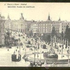 Postales: TARJETA POSTAL DE MADRID - PLAZA DE CASTELAR - SIN CIRCULAR. Lote 27573100