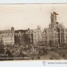 Postales: MADRID - CIBELES Y PALACIO COMUNICACIONES. Lote 14422525