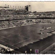 Postales: BONITA POSTAL - MADRID - ESTADIO SANTIAGO BERNABEU - PARTIDO DE FUTBOL . Lote 37970653