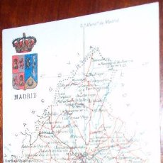 Postales: POSTAL MAPA MADRID - ALBERTO MARTIN. Lote 20258683