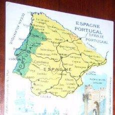 Postales: POSTAL MAPA ESPAÑA. Lote 20343699