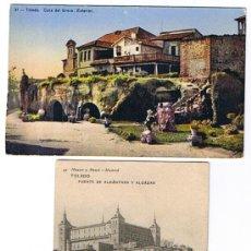 Postales: TOLEDO - 2 POSTALES, SIN CIRCULAR, EDITORES 1 DE HAUSER Y MENET Y 1 H.A.E.. Lote 25983064