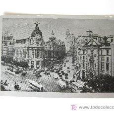 Postales: MADRID CALLE ALCALA Y GRAN VIA - TRATAMIENTO COMO PLATEADO - AÑOS 50. Lote 23364227