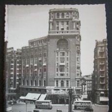 Postales: MADRID - PLAZA DEL CALLAO AÑOS 50 - CINE PALACIO DE LA PRENSA - AUTOBUSES DOS PISOS - NUEVA. Lote 25762623