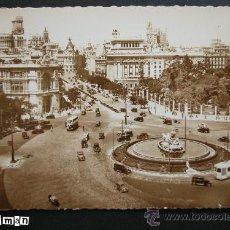 Postales: MADRID - LA CIBELES Y CALLE ALCALA - AÑOS 50 - NUEVA. Lote 25762619