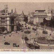 Postales: MADRID. BANCO DE ESPAÑA, CALLE DE ALCALA Y LA CIBELES ( TRANVIA ). HELIOTIPIA KALLMEYER Y GAUTIER. Lote 16197603