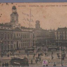 Postales: TARJETA POSTAL ANTIGUA DE MADRID. PUERTA DEL SOL. MINISTERIO DE LA GOBERNACION.. Lote 16212812