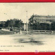 Postales: MADRID, PASEO DE SAN VICENTE Y PALACIO REAL, P33472. Lote 16419433