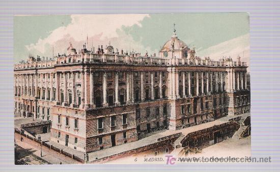 MADRID. - EL PALACIO REAL,- FACHADA NORTE. ¡IMPECABLE! (Postales - España - Comunidad de Madrid Antigua (hasta 1939))