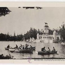 Postales: POSTAL FOTOGRAFICA DE MADRID. EL RETIRO. ED. HISPANIC SOCIETY OF AMERICA. SIN CIRCULAR. Lote 24727513