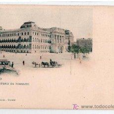 Postales: TARJETA POSTAL DE MADRID. MINISTERIO DE FOMENTO. 272 HAUSER Y MENET. Lote 16896922