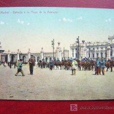 Postales: MADRID - ENTRADA A LA PLAZA DE LA ARMERIA. Lote 17196852