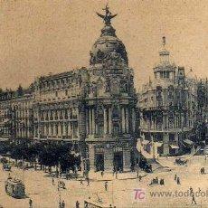 Postales: TARJETA POSTAL - MADRID - CALLE DE ALCALÁ Y GRAN VIA - CON TRANVIAS - Nº 108. Lote 17219615