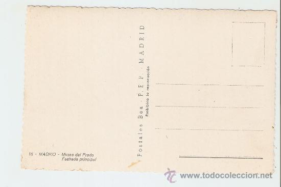 Postales: Madrid - Museo del Prado - Fachada principal - Foto 2 - 17236701