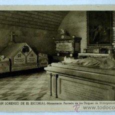 Postales: POSTAL MONASTERIO EL ESCORIAL PANTEÓN DE LOS DUQUES DE MONTPENSIER. Lote 17318216