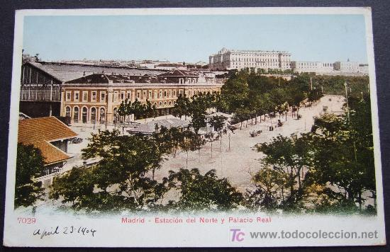MADRID – ESTACIÓN DEL NORTE Y PALACIO REAL (Postales - España - Comunidad de Madrid Antigua (hasta 1939))