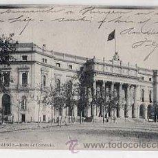 Postales: MADRID. BOLSA DE COMERCIO. FOT. LAURENT. REVERSO SIN DIVIDIR. CIRCULADA. Lote 17879153