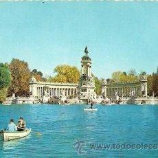 Postales: MADRID . PARQUE DEL RETIRO. ESTANQUE Y MONUMENTO A ALFONSO XII. Lote 17955275