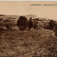 Postales: CERCEDILLA(MADRID).-SAN ANTONIO Y PLAZA DE TOROS. Lote 18426797