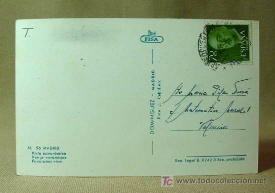 Postales: ANTIGUA FOTO POSTAL, MADRID, Nº 56, VISTA PANORAMICA, DOMINGUEZ, MEDIDAS: 14 X 9 CM. - Foto 2 - 18455880