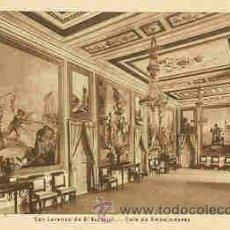 Postales: SAN LORENZO DE EL ESCORIAL - SALA DE EMBAJADORES. Lote 18726860