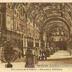 Postales: SAN LORENZO DE EL ESCORIAL - MONASTERIO. BIBLIOTECA. Lote 18727319
