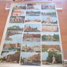 Postales: HOJA CON 21 POSTALES ANTIGUAS DE MADRID. Lote 26572449