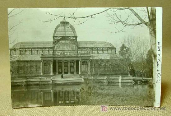 POSTAL, MADRID, PALACIO DE CRISTAL, A: 909, MEDIDAS: 13.5 X 9 CM. (Postales - España - Comunidad de Madrid Antigua (hasta 1939))