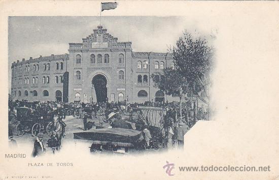 PLAZA DE TOROS DE MADRID: POSTAL DE HAUSER Y MENET NUMERO 23 REVERSO SIN DIVIDIR. NO CIRCULADA. (Postales - España - Comunidad de Madrid Antigua (hasta 1939))